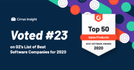 Cirrus Insight Ranked in Top 25 of G2's Top Sales… | Cirrus Insight