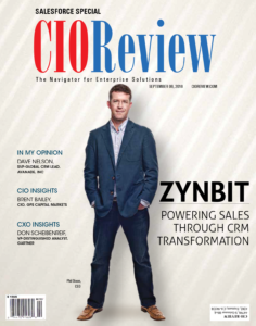 ZynBit on The Cover of CIO Review - Salesforce Special
