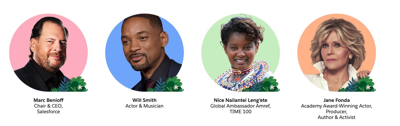 Salesforce Dreamforce 2021 featured speakers