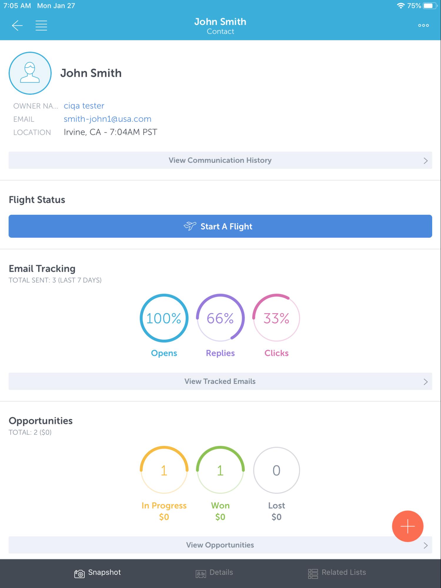 cirrus insight ipad app side panel