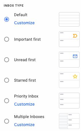 gmail inbox type