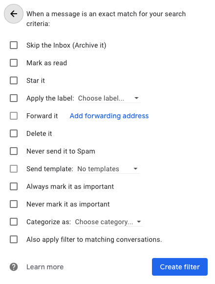 gmail search functions